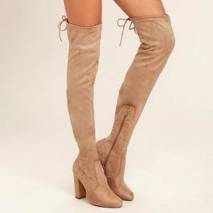LuLus Thigh High Suede Boots!